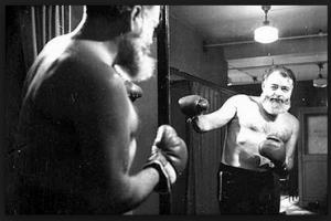hemingway boxing photo